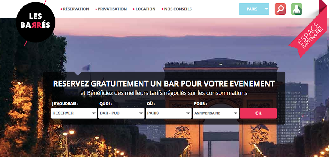 Réserver ou privatiser un bar via www.lesbarres.com :  gratuit, simple et rapide !!!