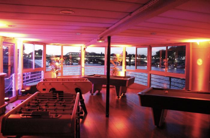 La salle de jeux du Concorde Atlantique et sa vue