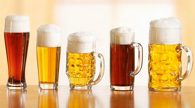 Différents types de bière