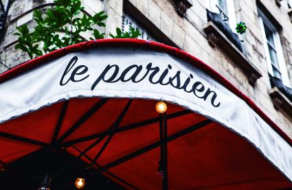 Le Bar-Restaurant le Parisien à Paris 3 - La devanture