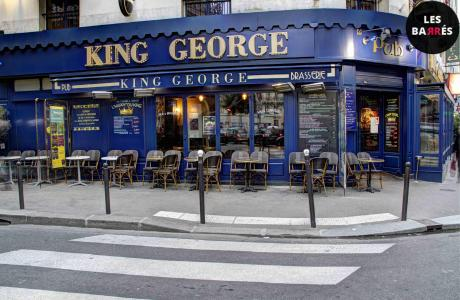 Le Bar-Pub le King George à Paris 9 - La devanture