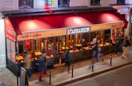 Réserver l'Assassin Paris 11ème, Bar restaurant