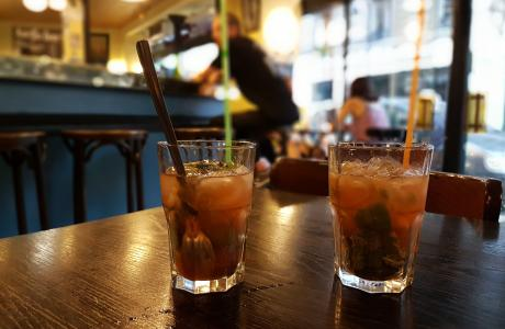 Le Restaurant les Frangins à Paris 13 - Le bar