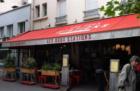 Le Bar-Restaurant les Deux Stations à Paris 16 - La devanture