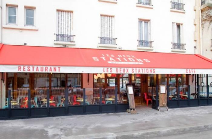 Le Bar-Restaurant les Deux Stations à Paris 16 - La terrasse