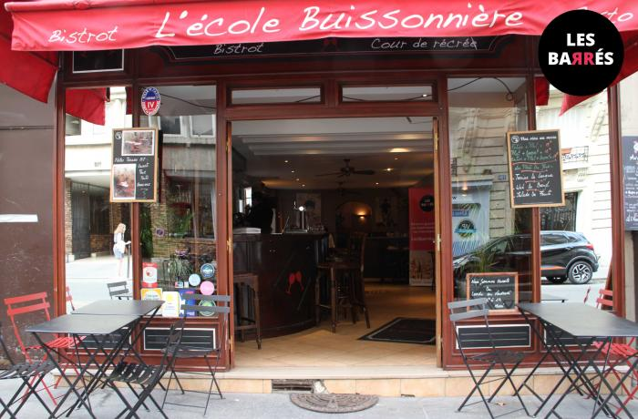 Le Bar-Restaurant l'Ecole Buissonnière à Paris 17 - La devanture