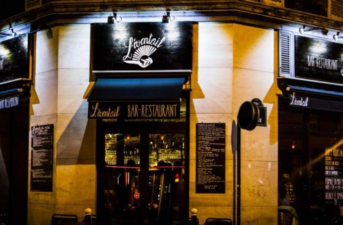 Le Bar-Restaurant l'Eventail à Paris 11 - La devanture