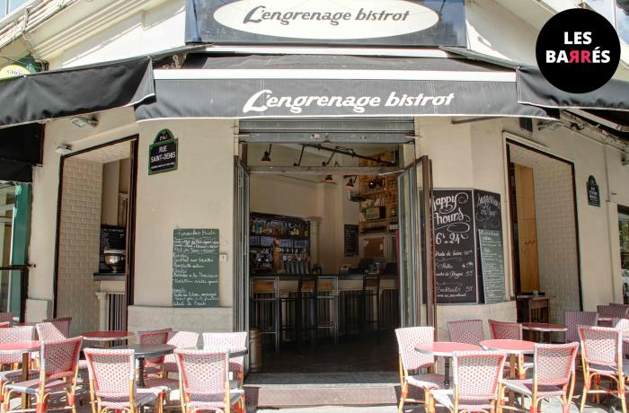 Le Bar-Pub l'Engrenage à Paris 2 - La devanture