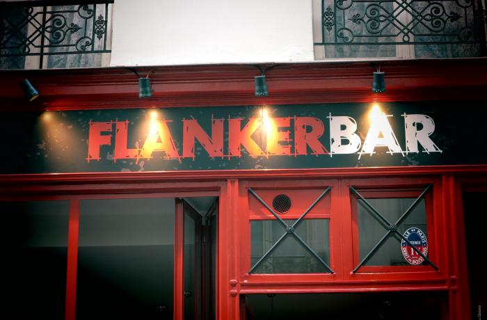 Le Bar-Pub le Flanker Bar à Paris 6 - La devanture