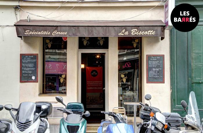 Le Bar-Restaurant la Biscotte à Paris 8 - La devanture