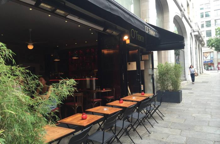 Le Bar-Restaurant l'O'Frenchy à Paris 9 - La terrasse