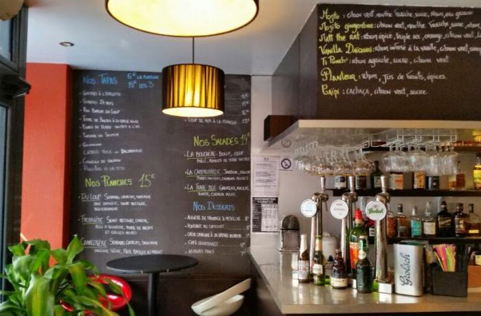 Le Bar-Restaurant la Table du Loup à Paris 12 - Le bar du Rdc
