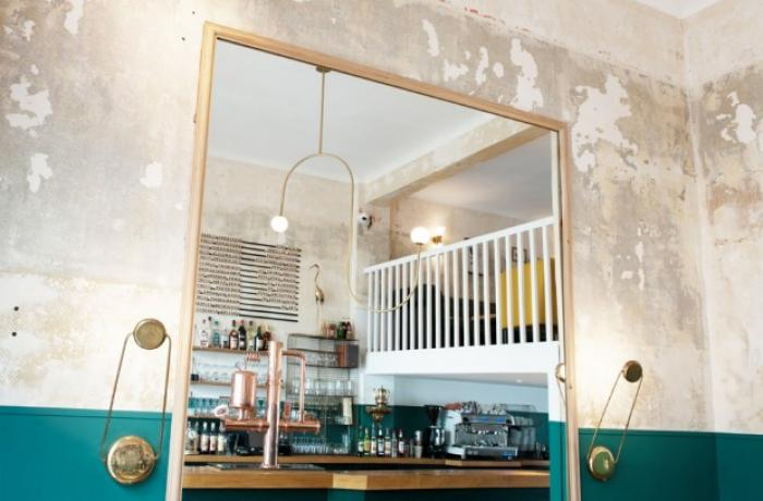 Le Bar le Narcisse à Nantes - Le mirroir